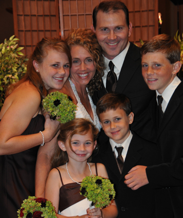 traylor and melody wedding family
